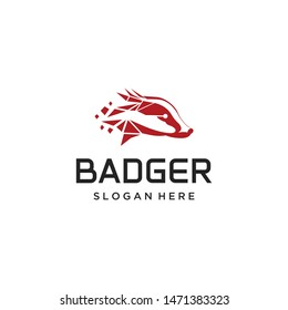badger logo for technology, animal logo