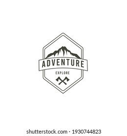 Badges Mountain Explore and Camping Logo