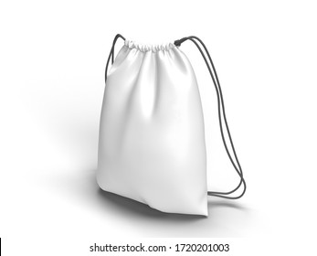 bag 3d rendering mock up empty bag template