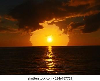 Bahamas Sunset Watercolor