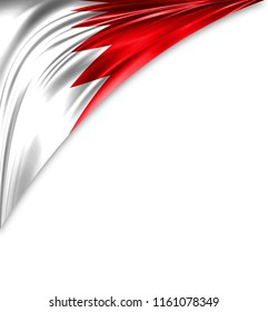 Bahrain flag of silk with copyspace for your text or images and white background.