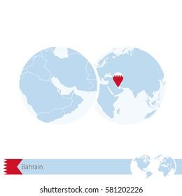 Bahrain Map Flag Circle Map Bahrain Stock Illustration 427284262 ...