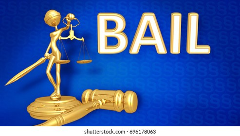 Bail Concept Lady Justice The Original 3D Character Illustration