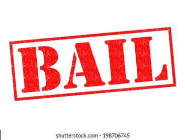 BAIL red Rubber Stamp over a white background.