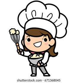 Bakery chef cooking