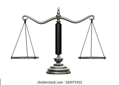 Balance empty. 3d illustration on white background.