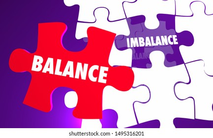 Balance Vs Imbalance Puzzle Equal Fair Treatment 3d Illustration
