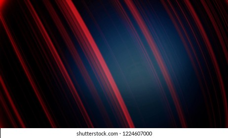 Ball in neon lines. Abstract animation of three-dimensional black sphere spinning with neon lines and glare. Beautiful bright photons on black ball