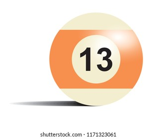 The ball for pool 13