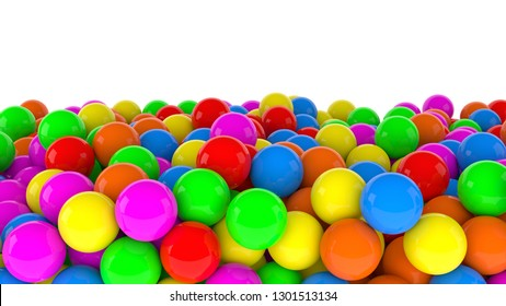 ball pool indoor park preschool kids fun kindergarden 3D illustration
