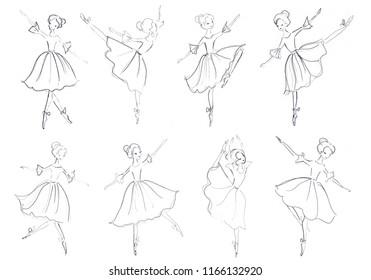 ballerina pattern, ballet dancer