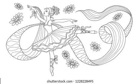 - Ballet Coloring Pages Images, Stock Photos & Vectors Shutterstock