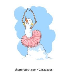 Ballet dancer snowman