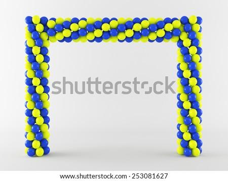 Balloon Arch Stock Illustration 253081627 - Shutterstock