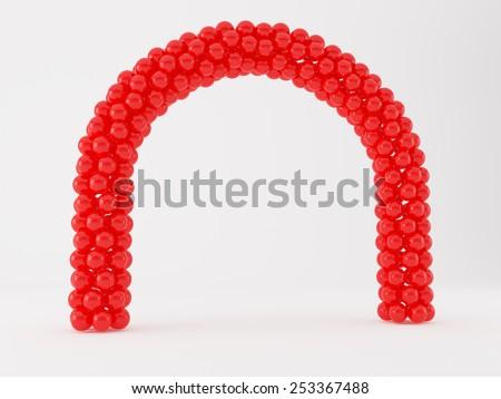 Balloon Frame Arch Stock Illustration 253367488 - Shutterstock