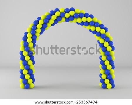 Balloon Frame Arch Stock Illustration 253367494 - Shutterstock