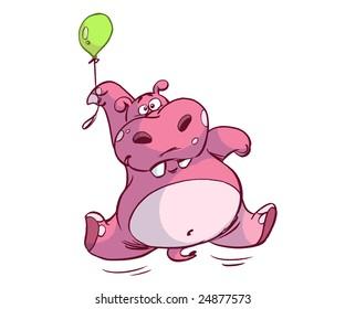 balloon hippo