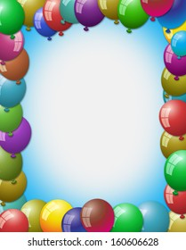balloon making frame by filling at every corner and empty space in center