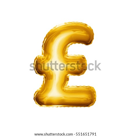 Royalty Free Stock Illustration Of Balloon Pound Currency Symbol
