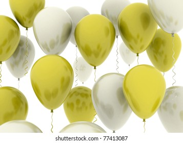 Balloons Gold and silver