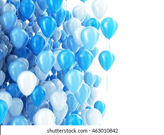 Balloons isolated on white. 3D render