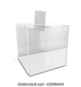 Ballot box. 3d illustration isolated on white background