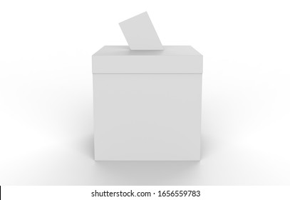 ballot box isolated on a white background. 3d illustration