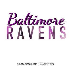 Baltimore Ravens fan banner or print