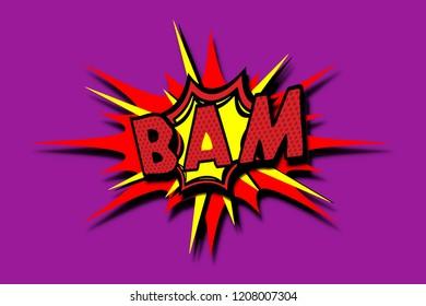 Bam template colorful speech bubbles.illustration