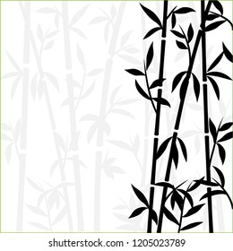 Bamboo background japanese asian plant wallpaper grass. Bamboo tree pattern black and white.