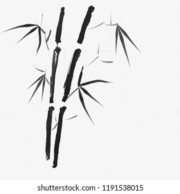 Bamboo. Chinese painting. Ink.