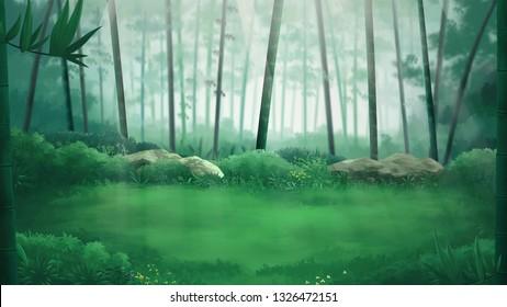 Bamboo Forest Background Landscape