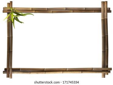Bamboo frame landscape brown