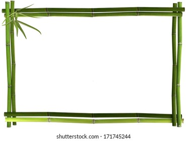 Bamboo frame landscape green