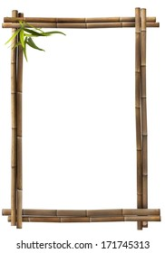 Bamboo frame portrait brown
