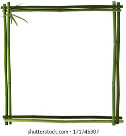 Bamboo frame square green