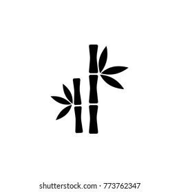 Bamboo tree icon on white background