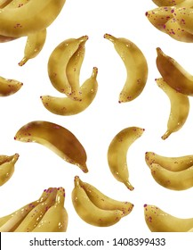 e218061bb60 Banana Fruit Seamless Pattern Watercolor and Digital paint Illustrator art  with Clipping Path great to use