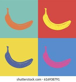 Banana pop art style illustration