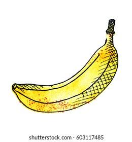 Banana sketch marker drawing