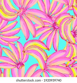 banana watercolor illustration cancy color