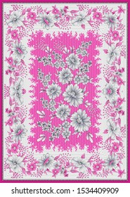 bandanna pattern with pink background