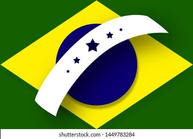 Bandeira do Brasil (Brazilian flag in portuguese) artistic version
