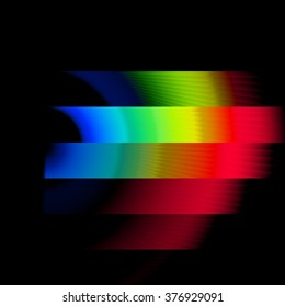 Bands of Color Spectrum Waves