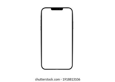 Bangkok, Thailand - FEB 13, 2021: iPhone 13 pro max Mockup, Highly Detailed iphon Isolated for Infographic Global Business  web site design app -include clipping pat