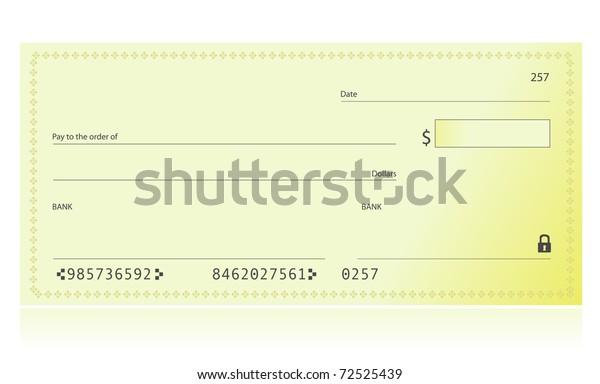 Ilustración de comprobación bancaria aislada sobre un fondo blanco