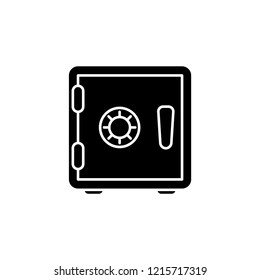 Bank safe line icon. linear style closed safe isolated. Security single isolated modern simple line design icon safe vault. Bank line icon outline sign linear style pictogram. Editable stroke