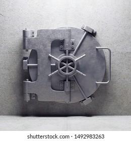 bank vault door. 3d render