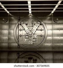 Bank Vault Door. Business concept. currency Japanese yen symbol and banking safe. High resolution 3D