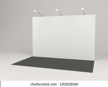 Banner 2x3 meters. Realistic 3d render. Template for your design.